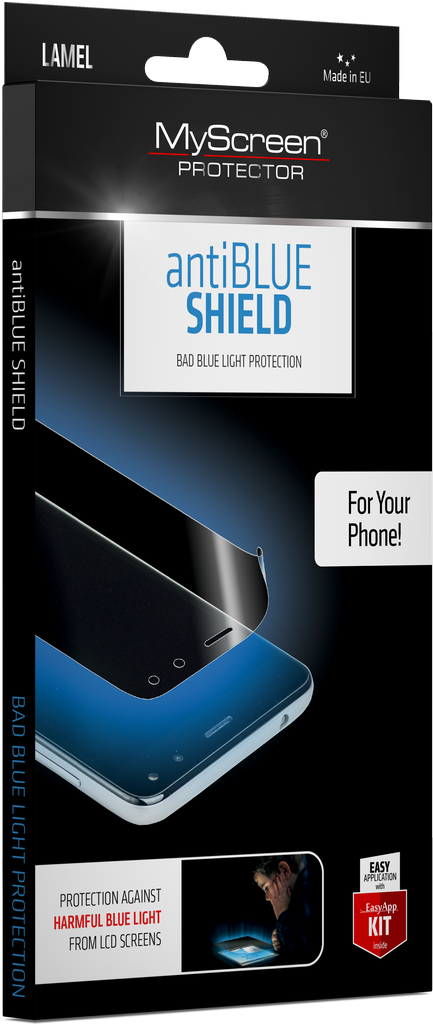 antiBLUE SHIELD packaging